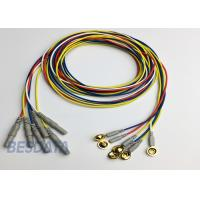 China BCI Researcher EEG Electrode Cap Used Multicolor Coated Gold EEG Electrodes Din 1.5 on sale