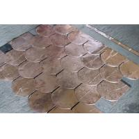 Quality Durable Copper Waterproof Fish Scale Asphalt shingles / Fiberglass Roofing Tile for sale