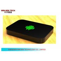 Multi Language Android HD Media Player , Black TV Media Player Box Manufactures