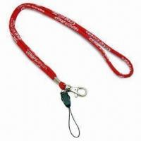 Rope Woven Lanyards with 6mm Diameter and Plastic Detachable Mobile Phone Buckle, Made of Polyester Manufactures