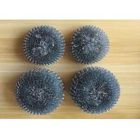 Galvanized Steel Wool Kitchen Sponge , Pot Cleaning Steel Wire Metal Scrub Pad Manufactures