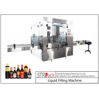 24 Head Nozzle Automatic Liquid Filling Machine For 0.5 - 2L Wine / Soy Sauce Manufactures