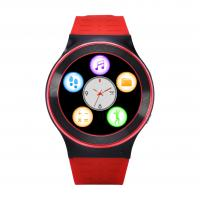 Red Smart Bluetooth Watch Phone For Adult / Gps Tracking Touch Screen Watch Manufactures