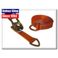 8 Meter D Ring Cargo Ratchet Tie Down Straps 2 Inch Polyester Webbing Manufactures