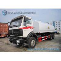 China North Benz 6x4 Chemical Tanker Truckr Carbon Steel  22000 L Fuel Tanker Truck on sale