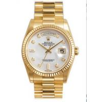 Rolex Day Date Mother of Pearl Diamond Dial President Bracelet 18k Yellow Gold Mens Watch Manufactures