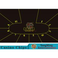 Good Resilience Casino Table Layout High Density Black Color With Crown Logo Manufactures