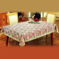 China PVC Table Cloth with Non-woven Backing, Different Sizes are Available on sale