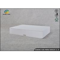 China Customized Rigid Cardboard Gift Boxes Aqueous Coating Surface With Drawers on sale