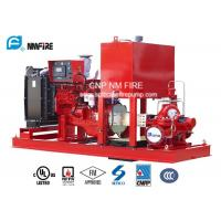 150PSI Diesel Engine Driven Fire Pump , Split Case Fire Pump Ductile Cast Iron Materials Manufactures