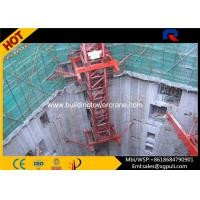 High Performance Hydraulic Mobile Crane , Inner Climbing Tower Crane Remote Control Manufactures