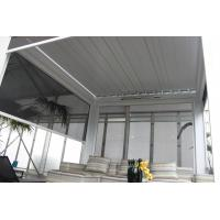 Polyester UV Coating Zip Track Blinds Blackout Customized Windproof Exterior Manufactures
