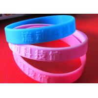 Low Relief Custom Silicone Rubber Wristbands Embossed Logo Lettering Raised Manufactures