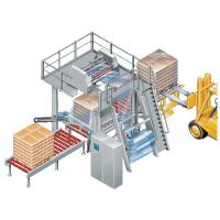 Tubular Film  Stretch Hooding Machine  for Wrapping Boxed Products Pallets Packaging Manufactures