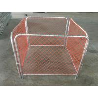 China Rubbish Cage 50mm*50mm orange chain link infilled mesh construction barriers on sale