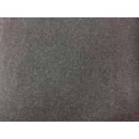 100 Polyester Velvet Fabric 580g/m , Wool Upholstery Fabric Charcoal Color Manufactures