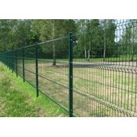 PVC Coated 3 D Folds Welded Wire Mesh Fence / Decorative Garden Mesh Fencing Manufactures