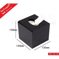 Square Mini Transparent Facial Tissue Box ,  Acrylic Holder Stand For Hotel Manufactures