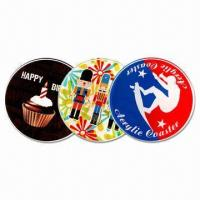9cm Circular Coasters, Made of 3mm Thick Acrylic with CMYK Logo and Visual Manufactures
