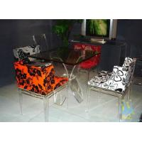China acrylic high top bar tables and chairs on sale