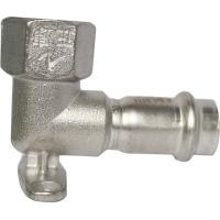 Female Elbow Stainless Steel Press Fittings Equal Shape With Wall Plate Manufactures