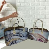 Faux Leather Tote Basket Handmade PU Leather organizer basket with handle Manufactures