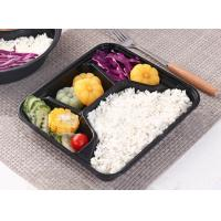 China 1000ml 4-compartment Disposable Plastic Bowls Eco Friendly for fast food on sale