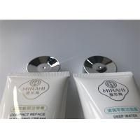 White Plastic Tube Packaging with electoplate glossy silver screw on cap tail sealed 100g Manufactures