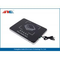 Square USB Desktop RFID Reader For Books Management Metal Shielding Design Manufactures