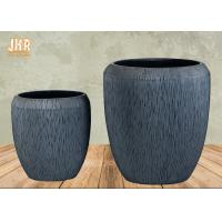 Clay Garden Pots Large Fiberclay Plant Pots Outdoor Clay Planters Painted Flower Pots Gray Color Manufactures