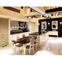 Black Countertop Standard Kitchen Cabinets White Door Panel Integrated Kitchen Cabinets Manufactures