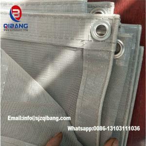 China Japan Thailand Construction Fireproof PVC Mesh Sheet Heat Resistant Sheet Fabric Construction Pvc Mesh Net on sale