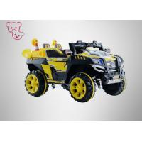 Yellow Musical Kids Electric Cars , Electric Ride On Cars For 3 - 8 Years Old Manufactures
