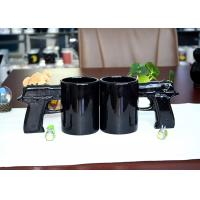 Gun Style Handle Eco Friendly Dinnerware , Eco Mug Ceramic For Promotion Manufactures