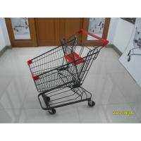 Grey powder coating 80L Supermarket Shopping Trolley shopping cart  With 4inch PU casters Manufactures