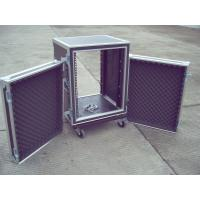 Rack Flight Case 10U ShockProof Case 9mm Plywood With 1mm Color Fireproof Wood  Color And Size Customer Request Manufactures