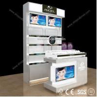 HOT SALE Retail Store Design Wooden Glass Cosmetic Display Showcase Manufactures