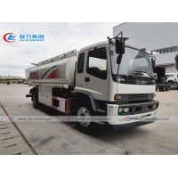 China 205hp ISUZU FTR 15K Liters 15T Fuel Delivery Truck on sale