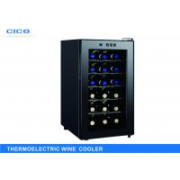 Freestanding 18 Bottle Thermoelectric Wine Cooler LED Temp Control Manufactures