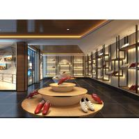 Fashion Showroom Display Cases / Shoe Display Unit Wooden Plus Metal Material Manufactures