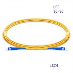 China SC/Upc-SC/Upc Simplex 9/125um Sm Optical Fiber Cable on sale