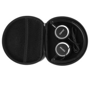 Outdoor Hard EVA Headphone Case With Sector Black Color OEM / ODM Service