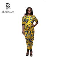 Summer Women African Style Jumpsuit Strapless Straps Sleeves Loose Piece Pants Manufactures