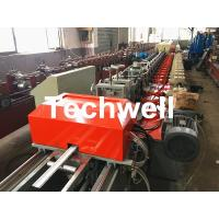 39 / 42 / 45 / 55 / 65 / 77mm PU Foam Roller Shutter Door Slat Roll Forming Machine With Servo Flying Saw Cutting Manufactures