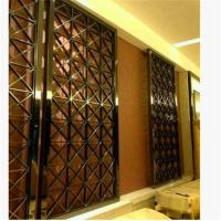 decorative metal screen,304 stainless steel panel screen with bronze hairline plating Manufactures
