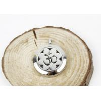 China Hollow Sun Flower Essential Oil Jewelry Diffuser Necklace Locket 6.5mm Thickness on sale