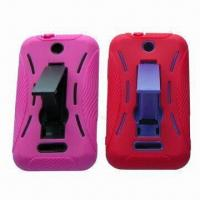China PC and Silicone Cases, 2-in-1 Combo, Suitable for ZTE X500 with Foldaway Back Bracket on sale