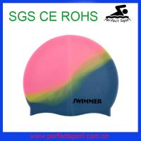 China Speedo Hot seller Mix color silicone swimming cap on sale