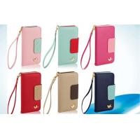 Magnetic Apple iPhone Leather Cases , Wallet Pink iPhone 5 Wallet case Manufactures