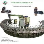 36 work station semi-automatic polyurethane slipper foam soles shoe making machine Manufactures